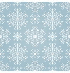 Seamless pattern with stylized snowflakes vector image vector image