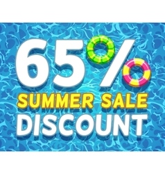 Summer sale and discount poster vector