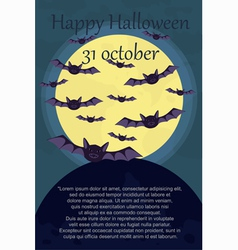 halloween card with bats vector image