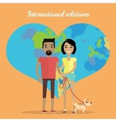 International relations travelling concept vector