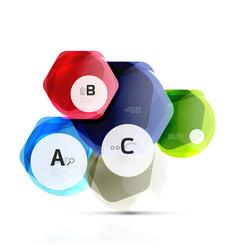 glass modern geometrical hexagon abstract vector image