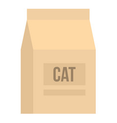 Cat food bag icon isolated vector