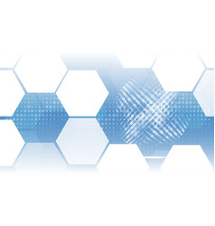 Abstract technological hexagon global background vector
