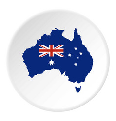 Australian flag icon circle vector