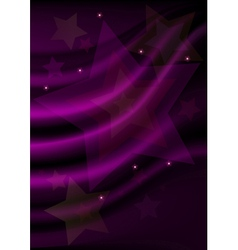 Stars on purple wavy mesh background vector image