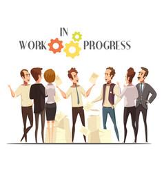Work in progress concept vector