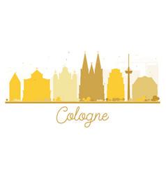 Cologne city skyline golden silhouette vector