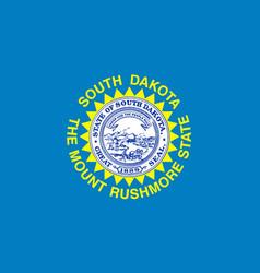 Flag of south dakota vector