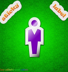 Human man person male toilet icon sign symbol chic vector
