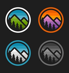 Mountain badges vector