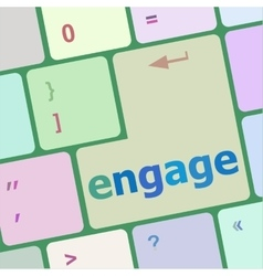 Engage button on computer pc keyboard key vector