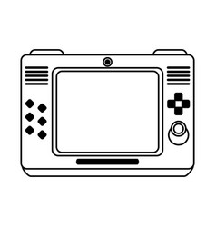 Arcade screen with buttons and joystick videogames vector