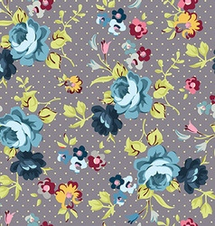 Beautiful floral seamless pattern with blue roses vector image vector image