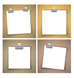 Cardboard with paper sheet background vector