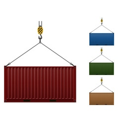cargo container 105 vector image vector image