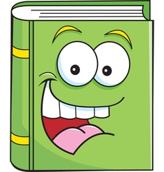Cartoon smiling book vector