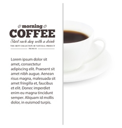 Coffee text design vector image vector image
