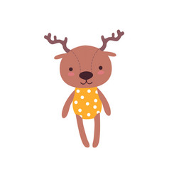 Cute soft baby deer plush toy stuffed cartoon vector