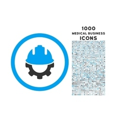 Development Rounded Icon with 1000 Bonus Icons vector image vector image