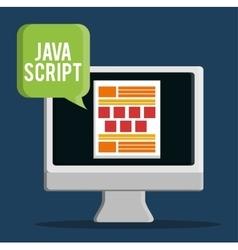 Development with gadget design vector image