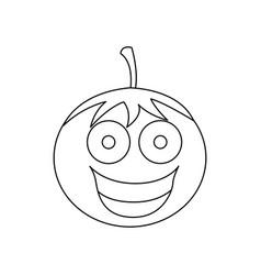 figure kawaii happy tomato icon vector image