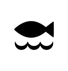 Fish black simple icon vector