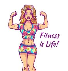 Girl fitness life vector
