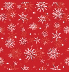 Holiday red hand drawn christmass vector