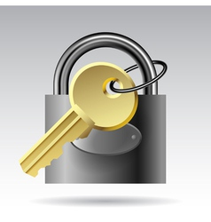 Key and padlock vector image vector image