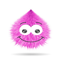 Luffy pompom fur ball isolated face vector