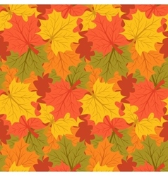 Maple leaves autumn background endless seamless vector