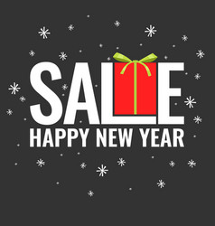 Minimalistic poster christmas sale and discounts vector