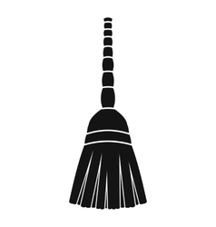New broom black simple icon vector