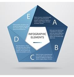 Pentagonal infographic vector