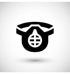 Protective respirator icon vector