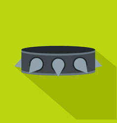 Rock collar icon flat style vector