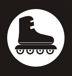 roller skate icon in the white circle vector image