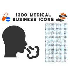 sneeze icon with 1300 medical business icons vector image