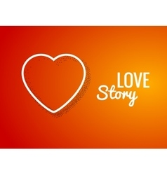 Valentine Background with Heart shape Love story vector image vector image