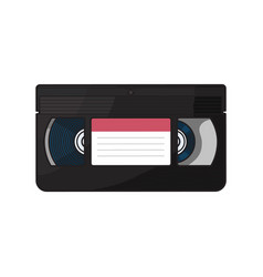 Video cassette vhs videotape from 90s isolated vector