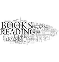 What books do children like text word cloud vector