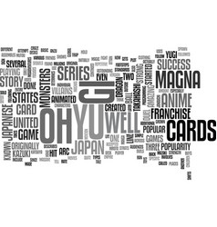 Yu gi oh text word cloud concept vector