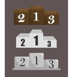 championship podium numbers icon vector image