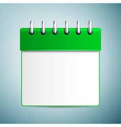 Calendar icon isolated on blue background vector