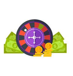 Gambling concept flat design vector