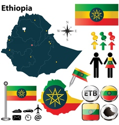 Map of Ethiopia vector image