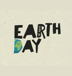earth day 22 april design template with free vector image