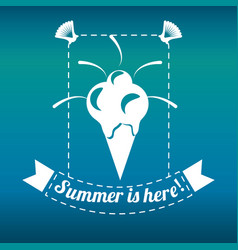 Delicious ice cream for celebrate summer vacations vector