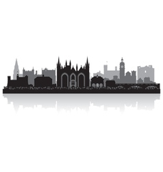 Peterborough city skyline silhouette vector image