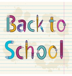 Back to school text vector image